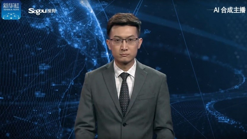 Avatar des Nachrichtensprechers Zhang Zhao: China will in der KI führend werden.