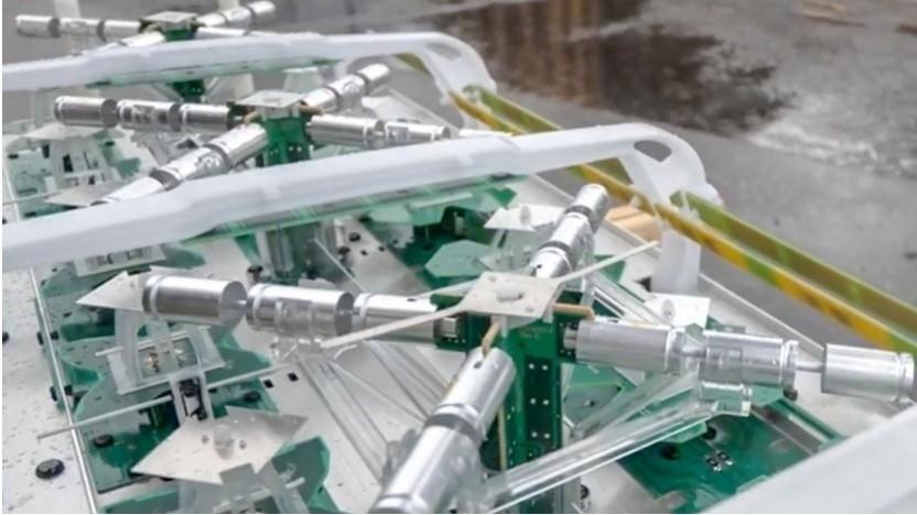 5G: So sehen die neuen Heptaband-Antennen ohne Verschalung aus.