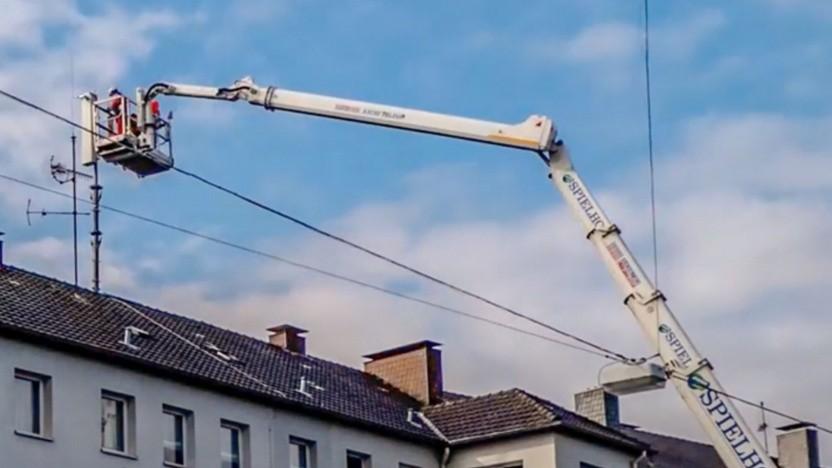 5G-Antenne wird montiert
