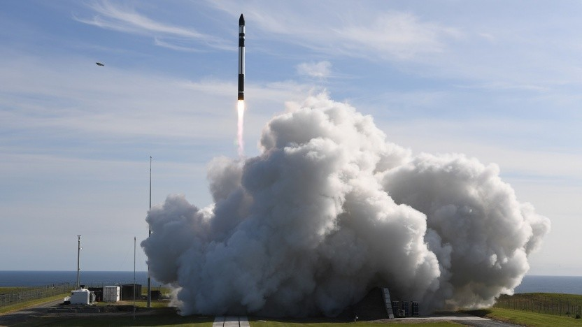 Der Start der dritten Electron-Rakete, auch mit einem deutschen Satelliten.