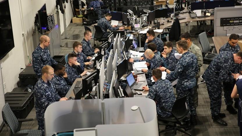 Soldaten während einer Übung des US Cyber Command