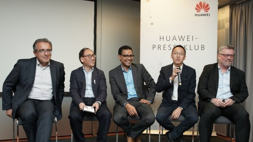 Huawei-Vertreter im Oktober in Berlin