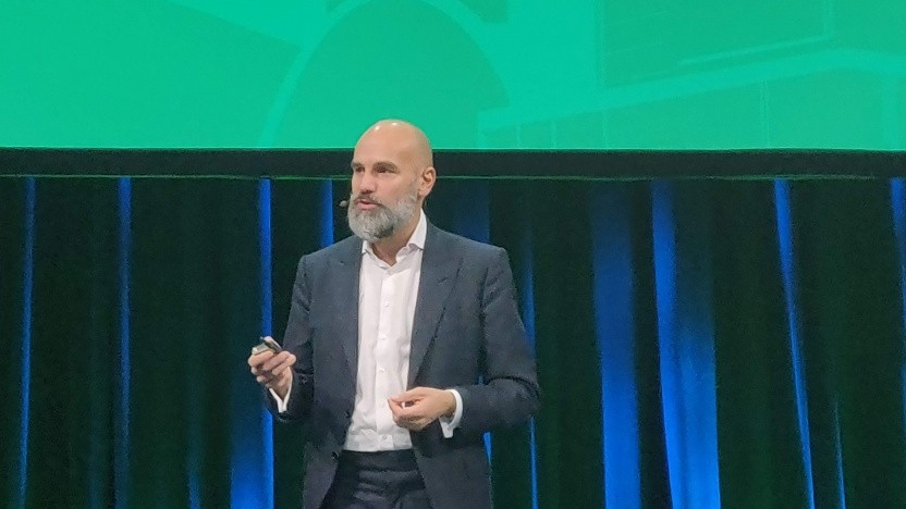 Mark Shuttleworth auf dem Openstack Summit in Berlin