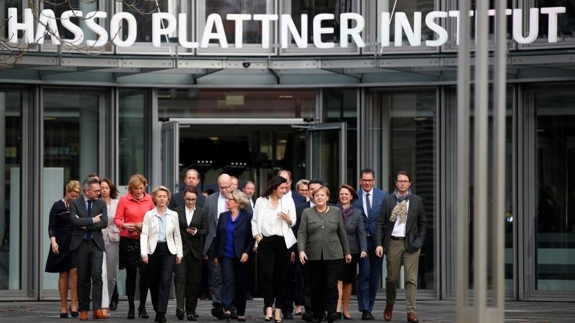 Das Bundeskabinett tagte im Hasso-Plattner-Institut in Potsdam.