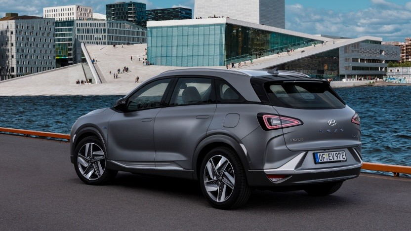 Die Brennstoffzelle liefert den Strom für einen E-Motor: Der Nexo ist also auch ein Elektroauto.