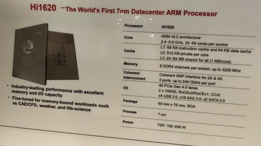 Huawei entwickelt seine eigenen Server-CPUs weiter.