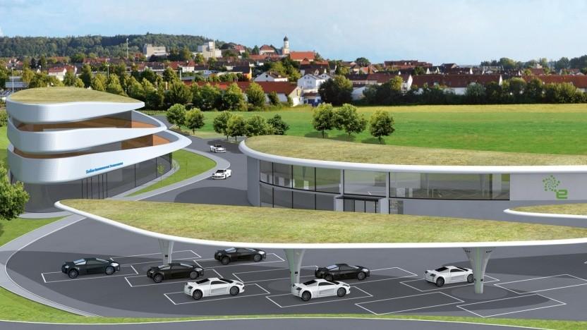 Mega-Stromtankstelle in der Nähe von Augsburg