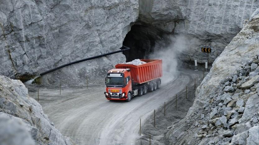 Autonom fahrender Volvo-Truck: Abgerechnet wird nach transportierten Tonnen.
