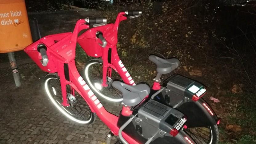 Leihfahrräder von Jump stehen inzwischen in Berlin.