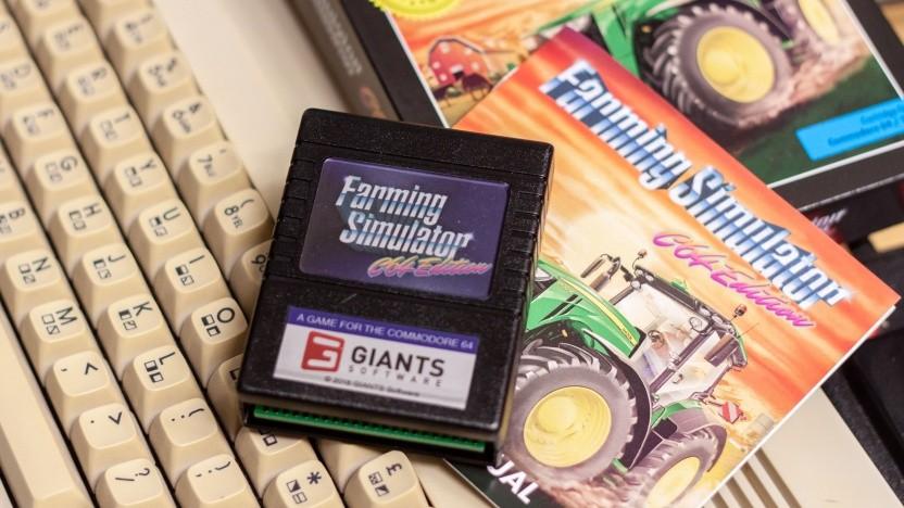Den Farming Simulator haben wir sogar auf einer Cartridge bekommen.