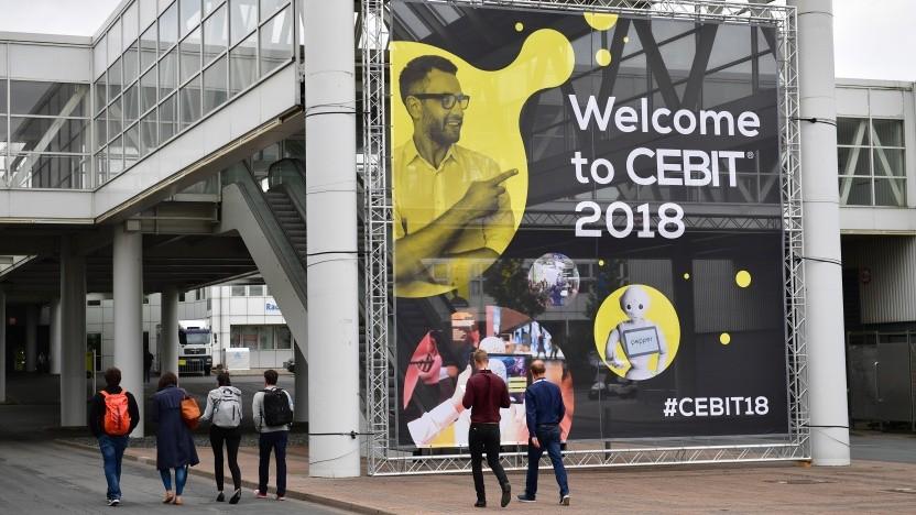 Der Eingang der Cebit 2018