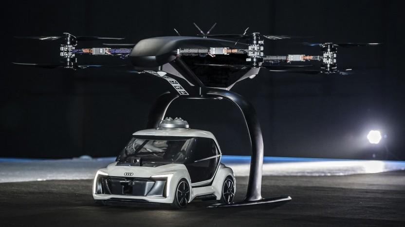 Flugauto Pop-Up Next: Audi setzt auf Flugautos.