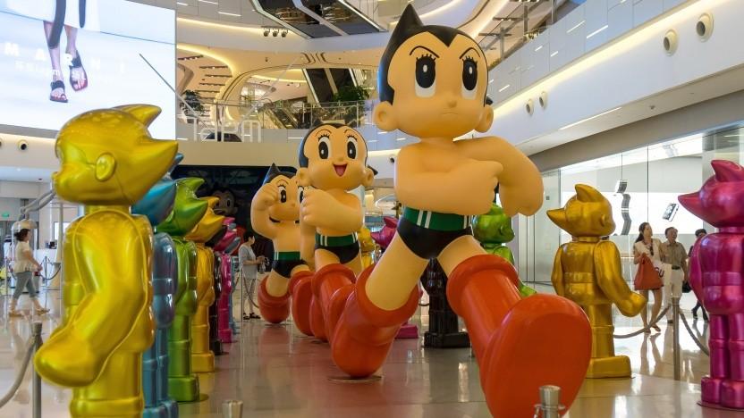 Tetsuwan Atomu gehört zu den bekanntesten Manga-Figuren Japans, die auch als Anime umgesetzt wurde.