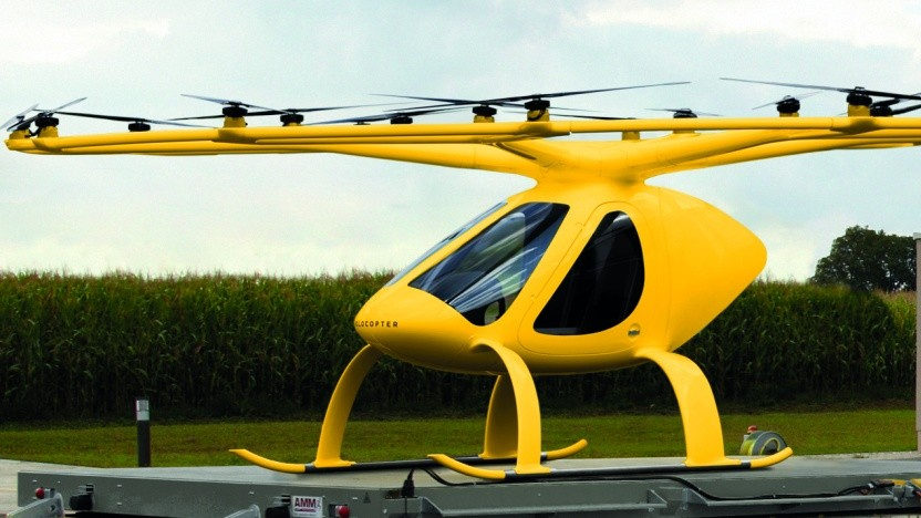 Volocopter in ADAC-Farben