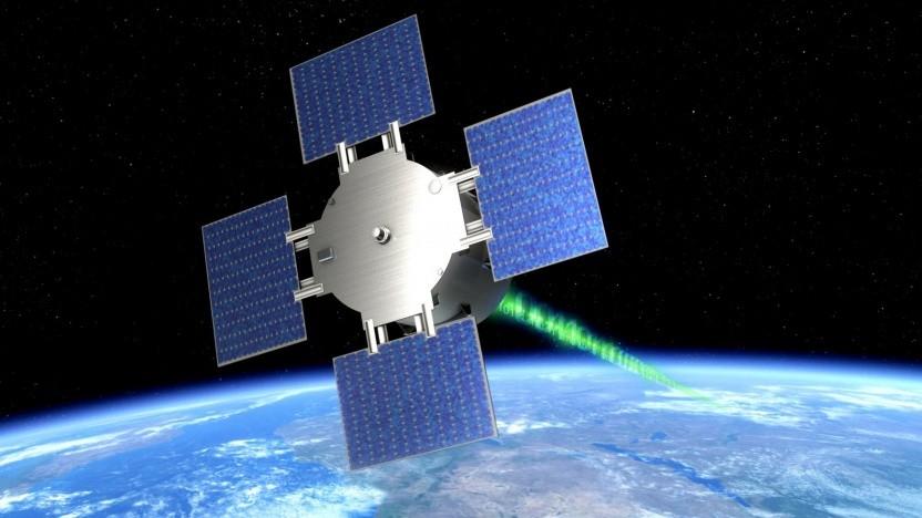 Künstlerische Darstellung des Satelliten Eu-Cropis: rotiert um die Längsachse, um Schwerkraft auf dem Mars und dem Mond zu simulieren