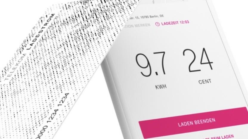 Ladekarte und App für Telekom Ladestrom