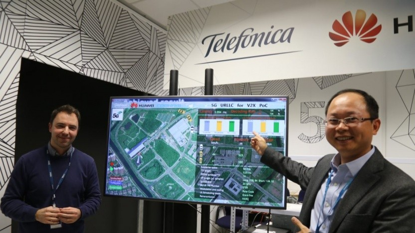 Telefónica und Huawei in ihrem 5G Joint Innovation-Lab in Madrid