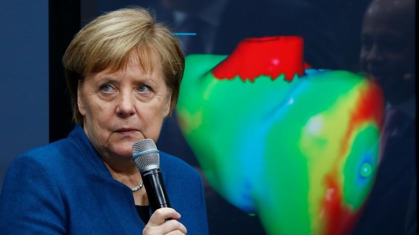 Angela Merkel auf dem Digitalgipfel 2018