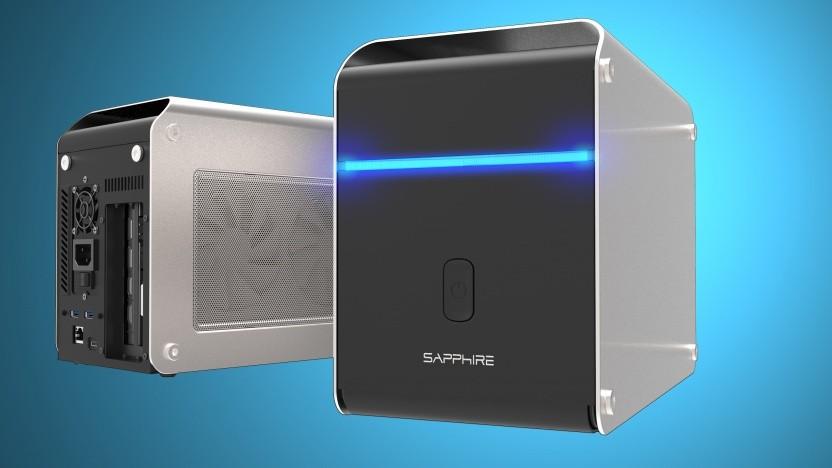 Sapphires eGPU-Gehäuse ist groß genug für leistungsfähige Grafikkarten.