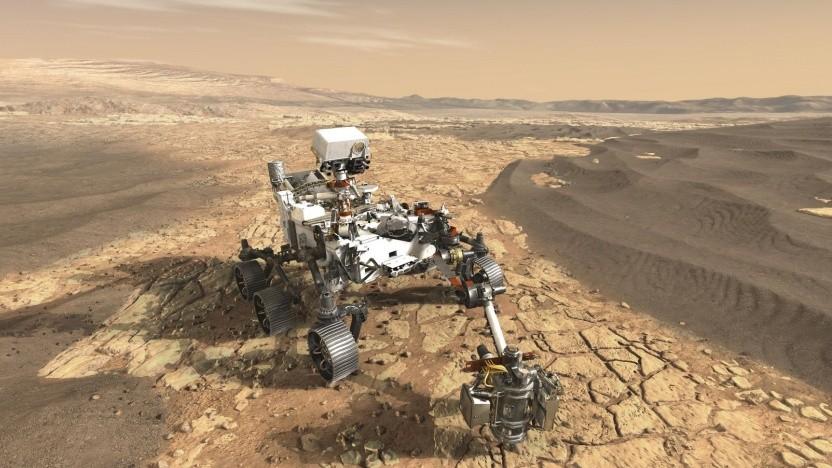 Künstlerische Darstellung des Rovers Mars 2020: KI ist eher die Ausnahme als die Regel.
