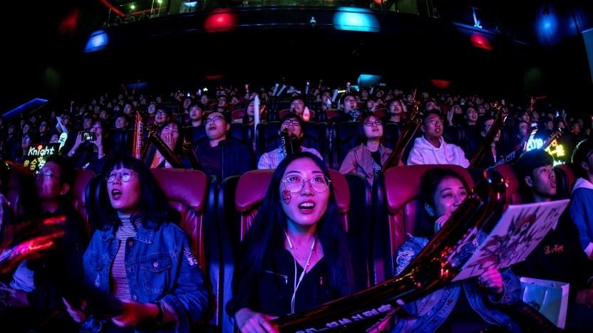 Besucher auf einer E-Sport-Veranstaltung in China