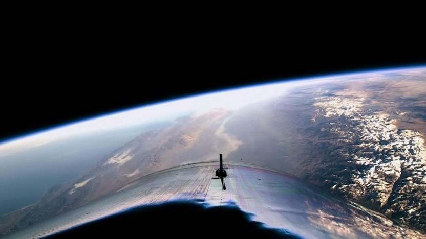 Blick aus VSS Unity: Wo beginnt der Weltraum?