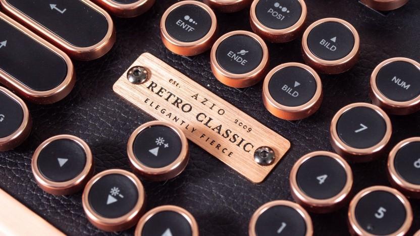 Die Retro Classic von Azio hat runde Tasten.