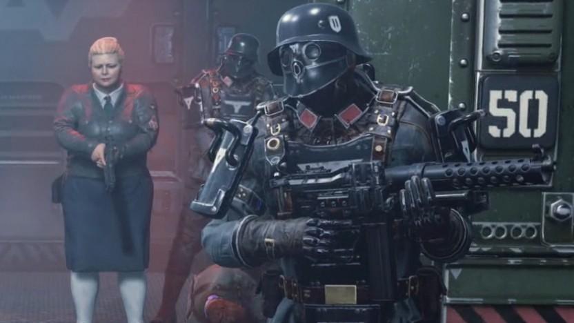 Szene aus der deutschen Version von Wolfenstein 2