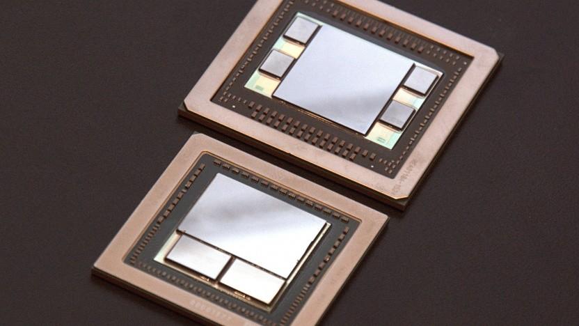 Zwei AMD-Grafikchips mit HBM