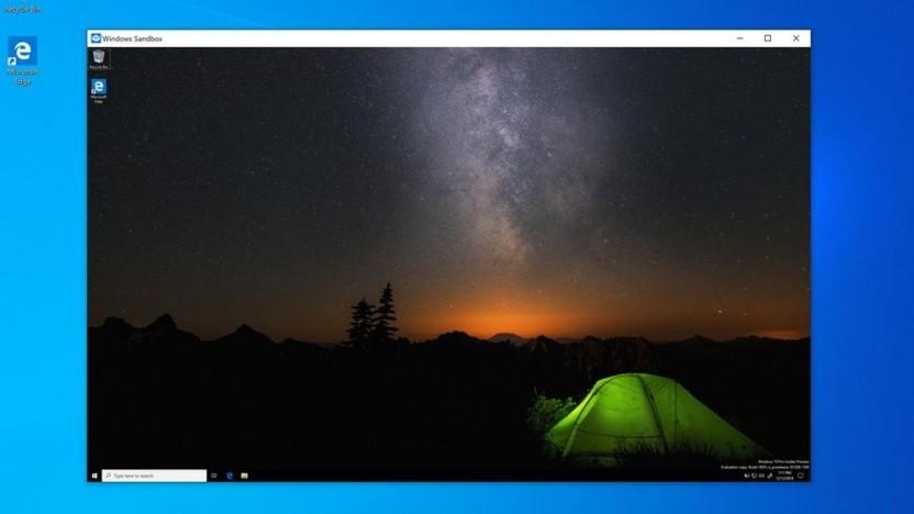 Der Sandbox-Modus ist ein Windows 10 in Windows 10 zum Testen von Dateien.