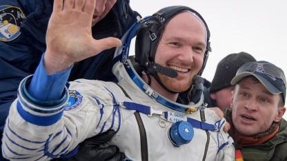 Alexander Gerst Landung