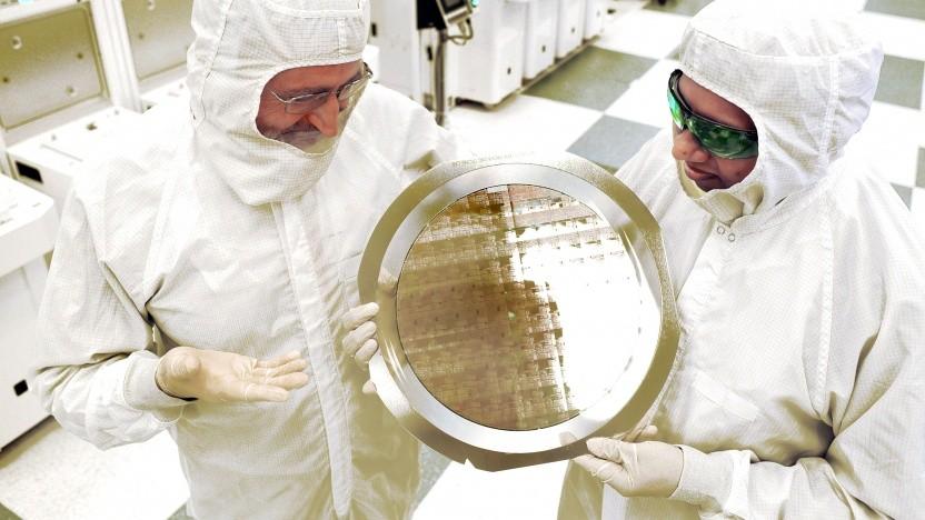 Wafer mit 7-nm-Test-Chips ohne EUV