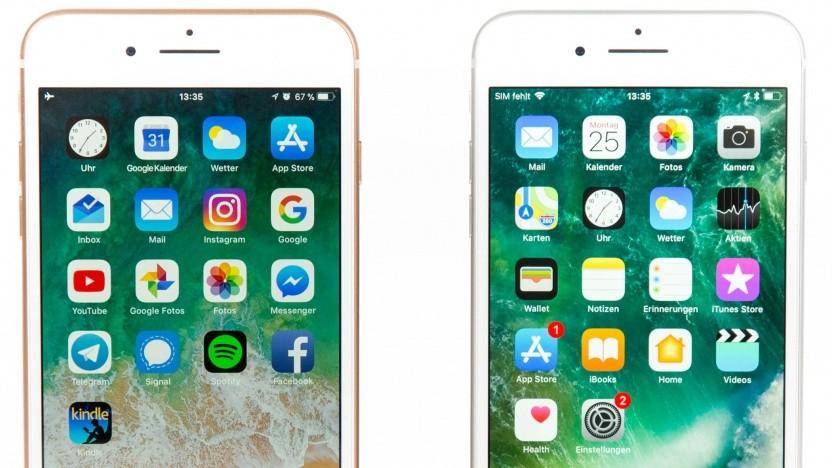 Das iPhone 8 Plus und das iPhone 7 Plus