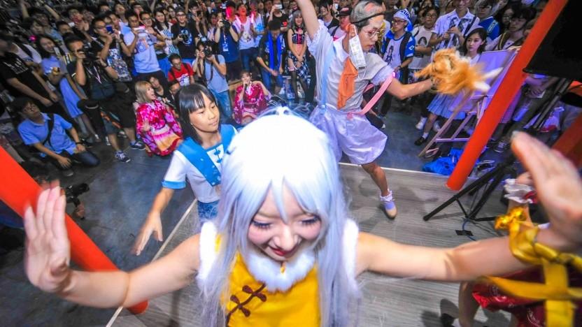 Besucher auf einer Spielemesse im Jahr 2017 in Shanghai