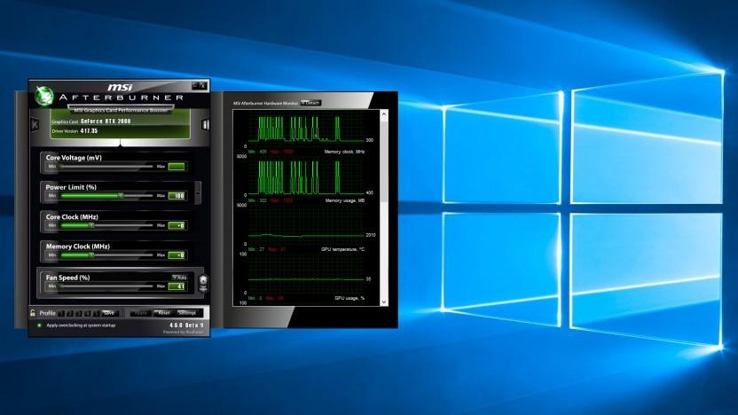 Afterburner mit Geforce RTX 2080