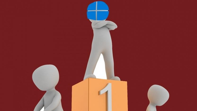 Windows 10 ist unter Net-Application-Nutzern das beliebteste OS.