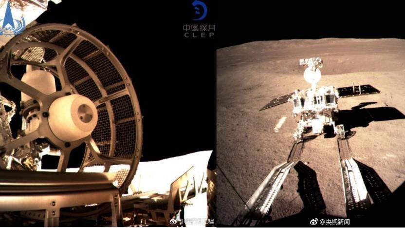 Erste Bilder vom Rovers Yutu 2 auf der Mondoberfläche