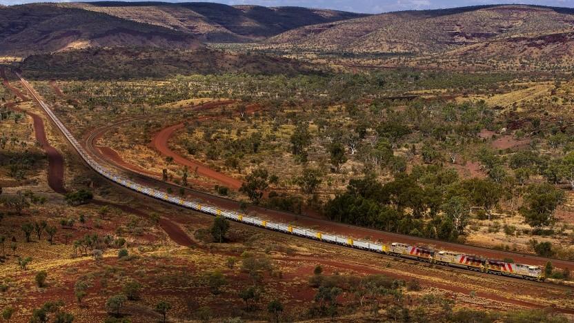 Erzzug im Bergbaugebiet Pilbara: ein Teil des Automatisierungsprogramms Autohaul