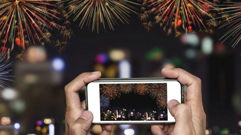 Feuerwerk im Video