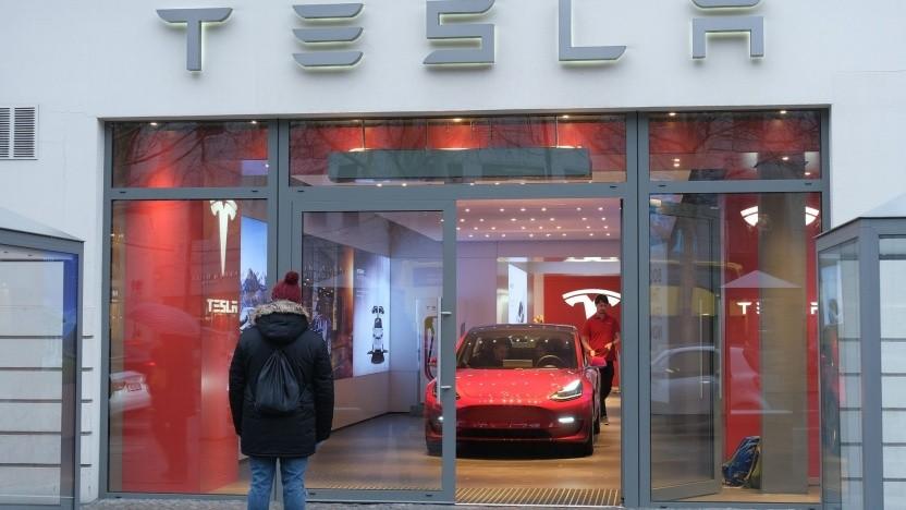 Model 3 in der Berliner Tesla-Niederlassung: teure Extras