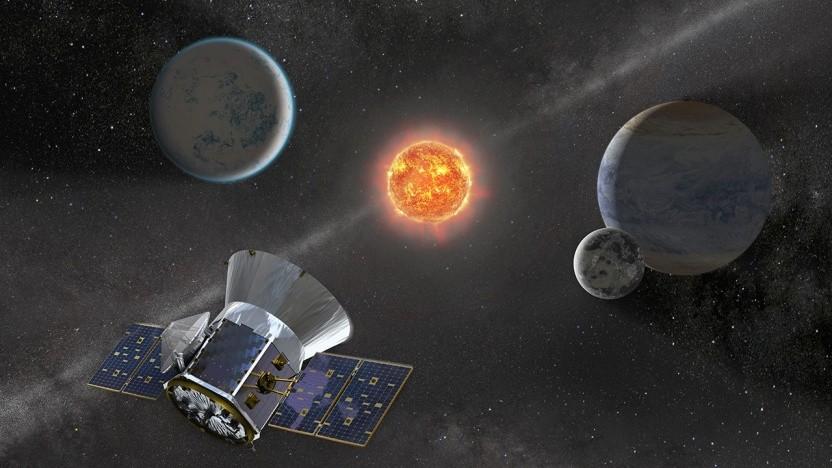 Künstlerische Darstellung von Tess: sechs mögliche Supernovae entdeckt