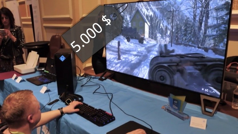 5.000 Euro will HP für seinen 65-Zoll-Gaming-Monitor haben.