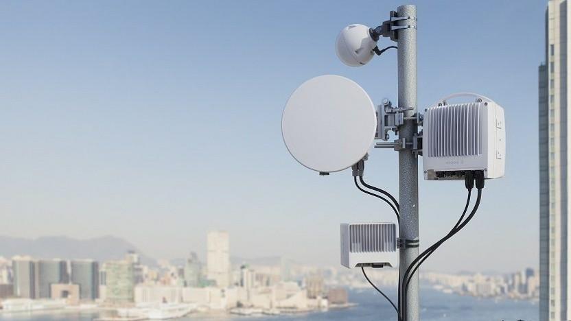 Der Mini-Link von Ericsson an einem anderen Ort