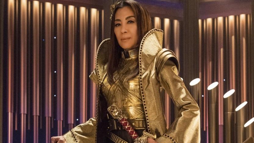 Michelle Yeah in ihrer Rolle als Captain Philippa Georgiou aus dem Spiegeluniversum von Star Trek: Discovery