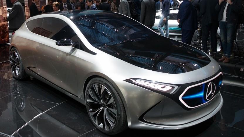 Elektrische Kompaktklasse Mercedes EQA (Symbolbild): technisch dem EQB ähnlich