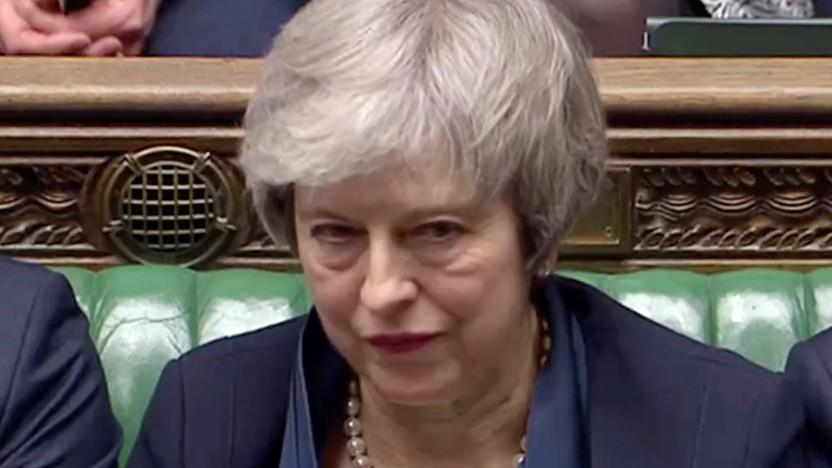 Premierministerin Theresa May nach der Abstimmungsniederlage im Unterhaus