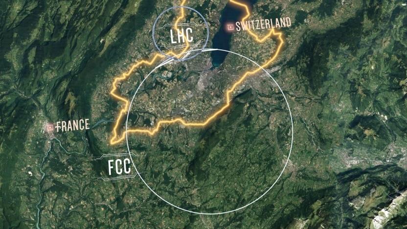 Lageplan des FCC: Wissen in der Grundlagenphysik verbessern, Technologien voranbringen