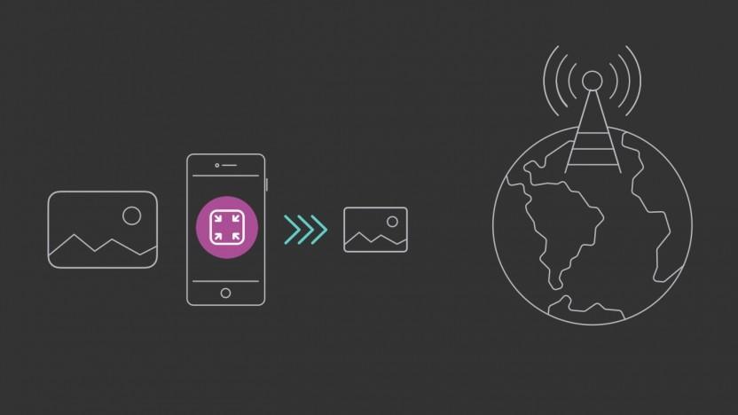Spectrum verkleinert Bilder für den Mobilgebrauch.