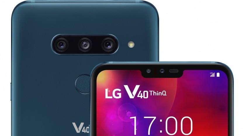 Das LG V40 Thinq hat insgesamt fünf Kameras.
