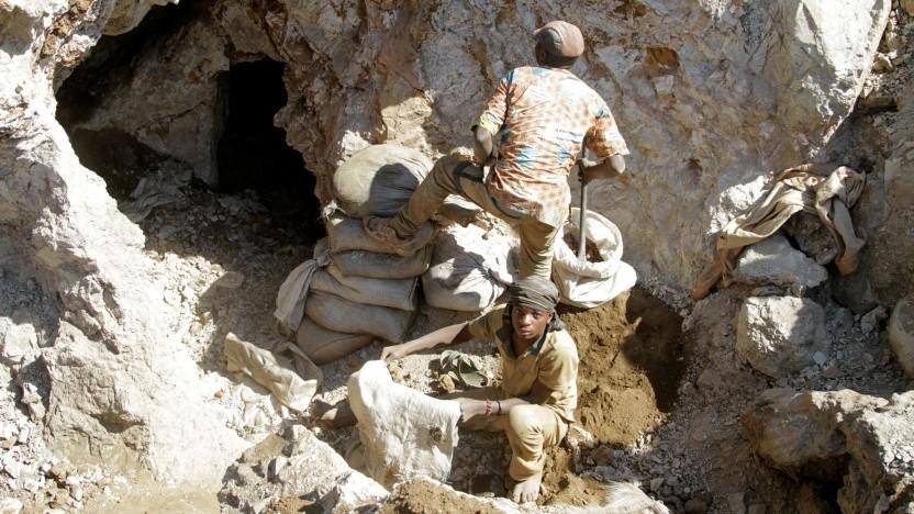 """Arbeiter in einer artisanalen Kobalt-Mine im Kongo: """"Wir wissen nur ungefähr, wie die Ströme sind."""""""
